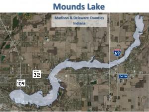 2013 Mounds Lake Aerial Map